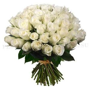 Букет 45 белых роз